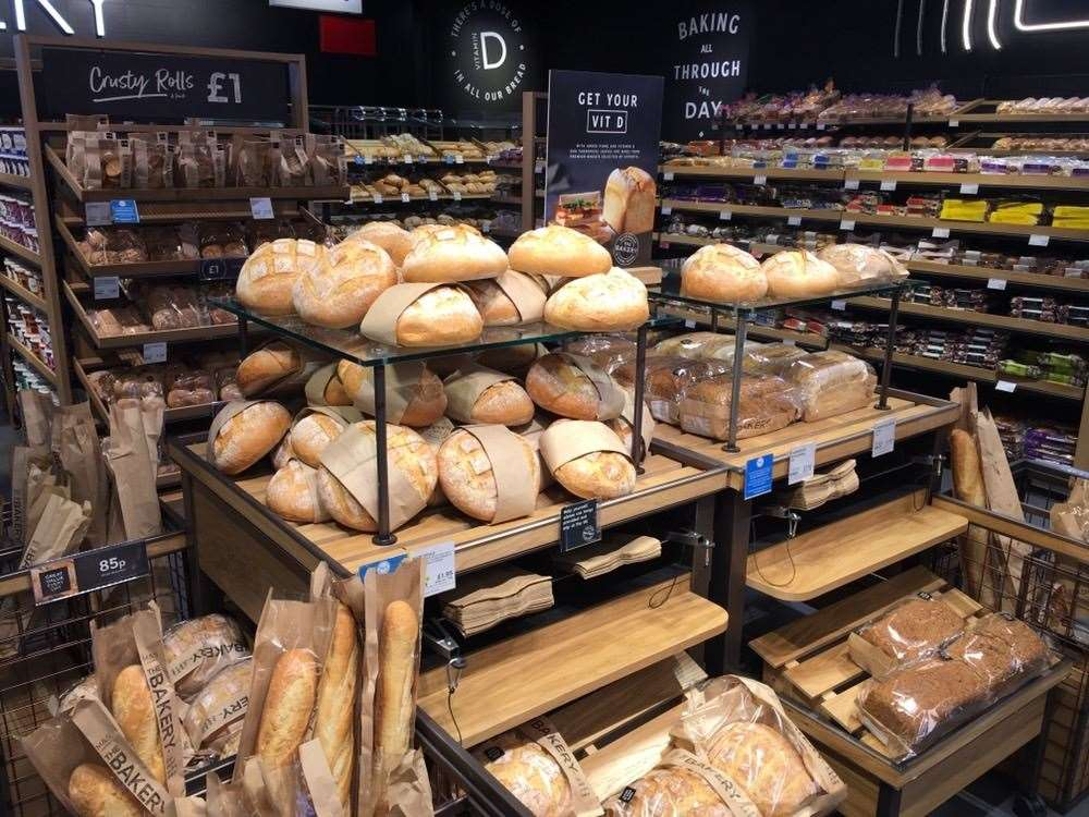 The bakery section of the Food Hall at M&S