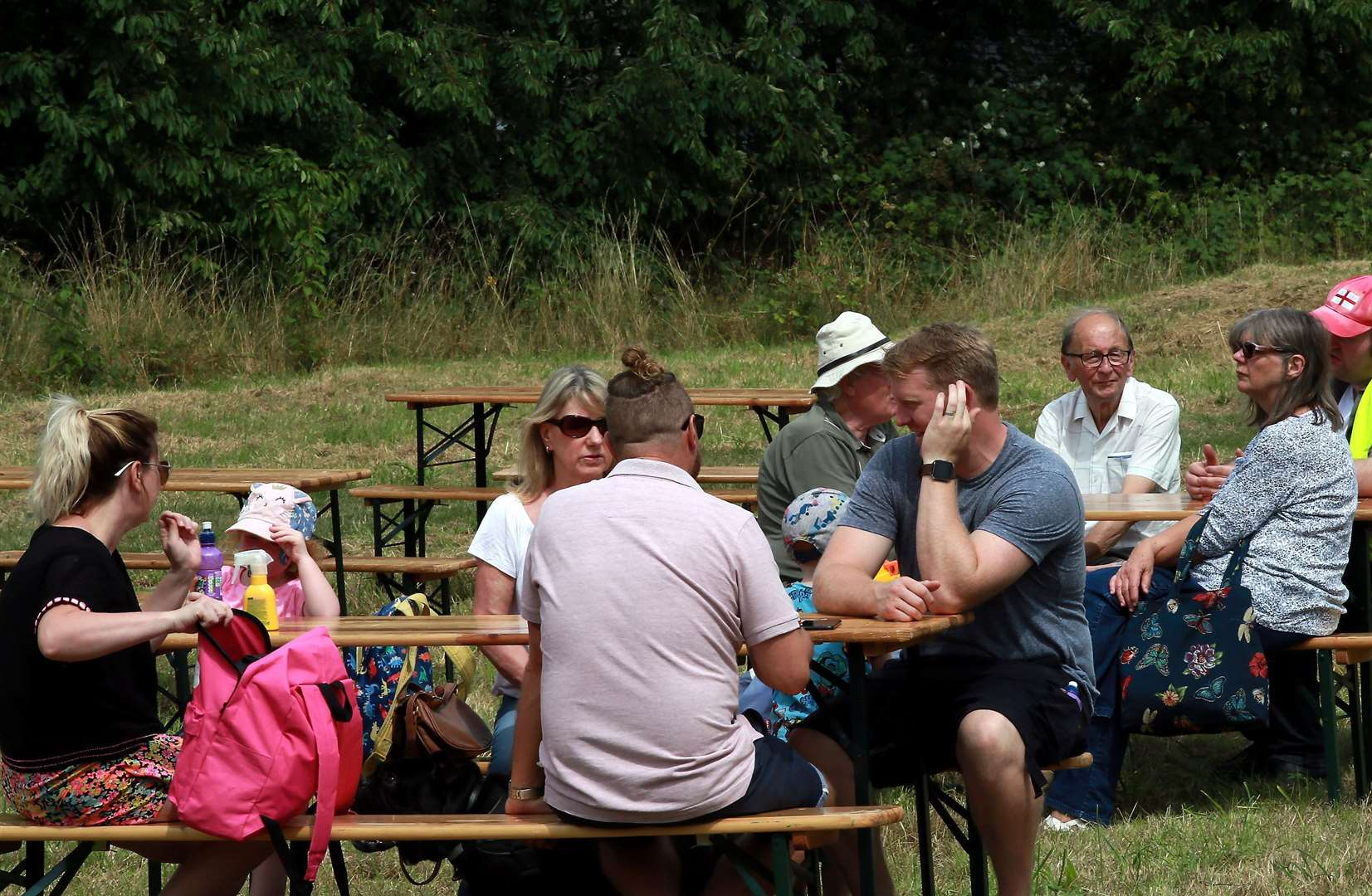 Parks and pubs are also overflowing with people on Bank Holiday Monday.  File photo: Phil Lee
