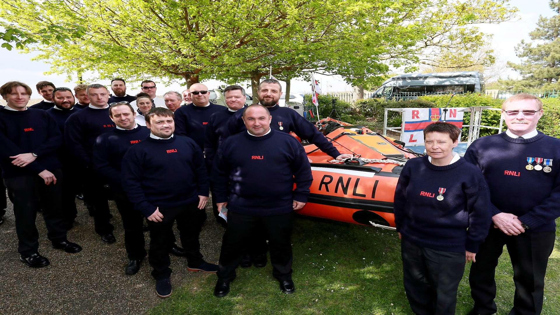 The members of Sheerness Lifeboat Station with the new boat