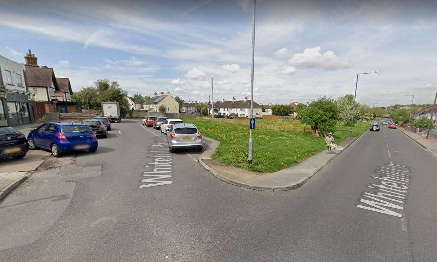 A pensioner was attacked on Whitehill Parade near the junction with Whitehill Lane in Gravesend. Picture: Google