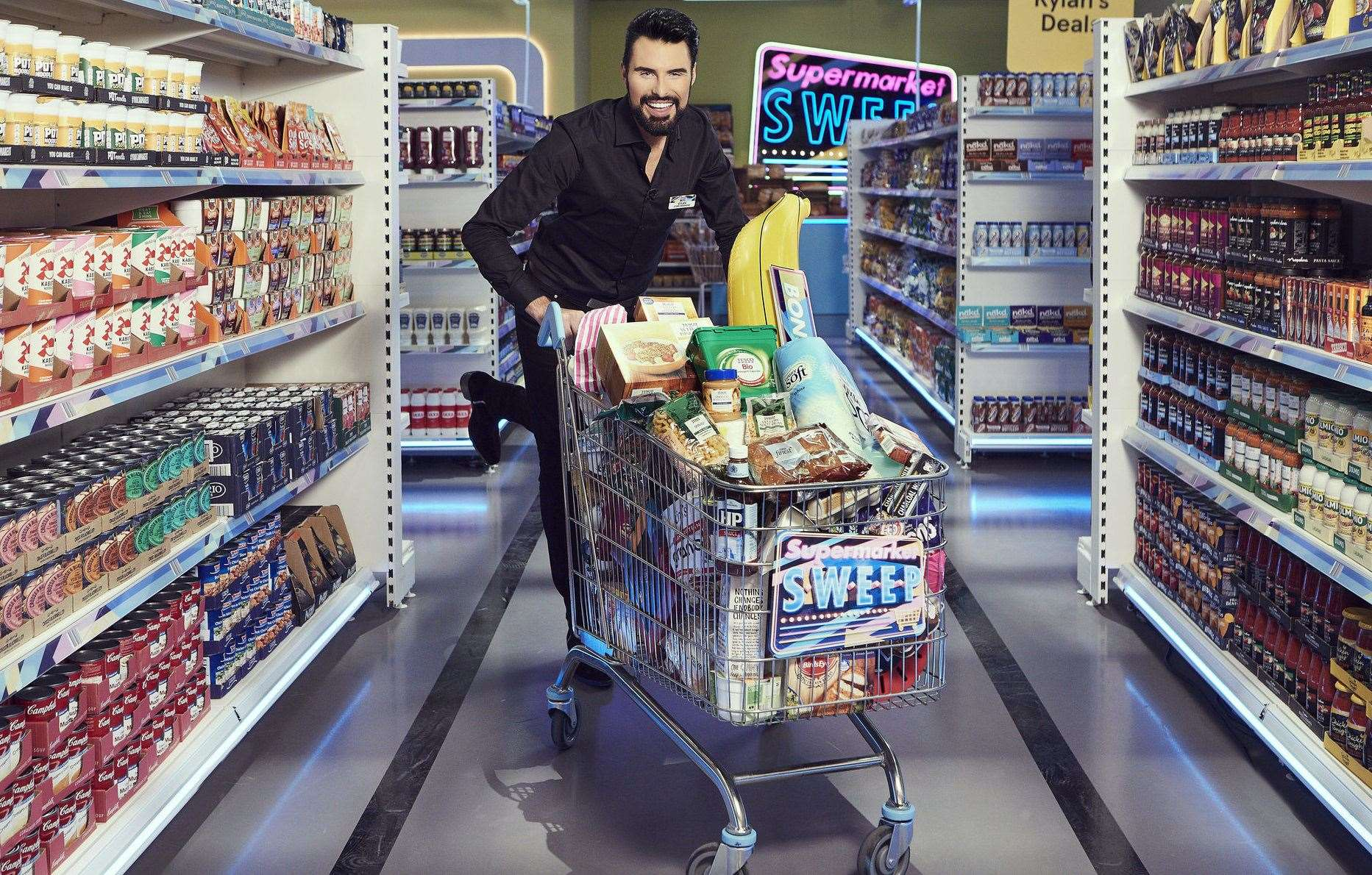 Rylan Clark-Neal will host the new Supermarket Sweep, which was filmed at Maidstone Studios