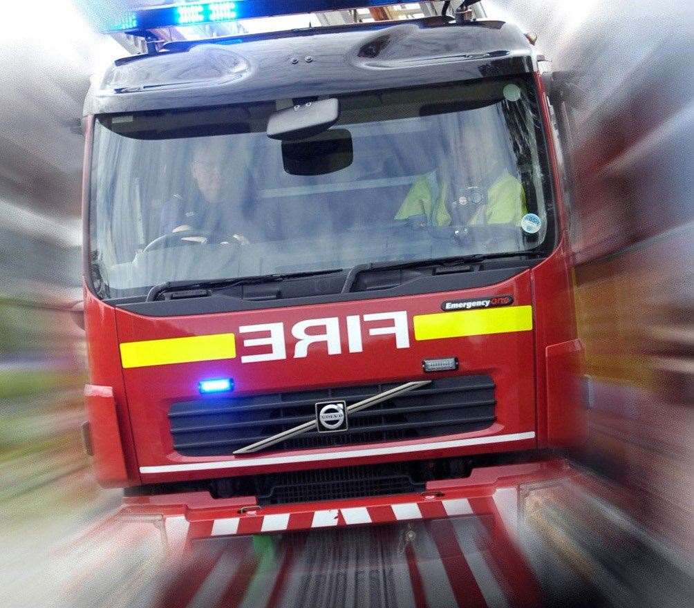 Crews responded to a field fire in Tenterden