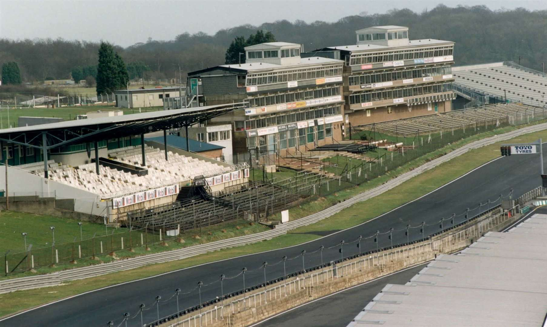 The Brabham Straight at Brands Hatch pictured in February 1997