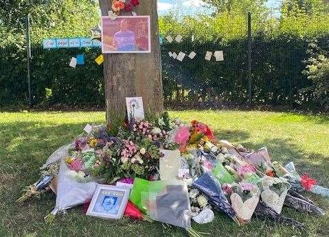 Bunches of flowers and cards were placed on the school grounds. Pictures: Thinking Schools Academy Trust