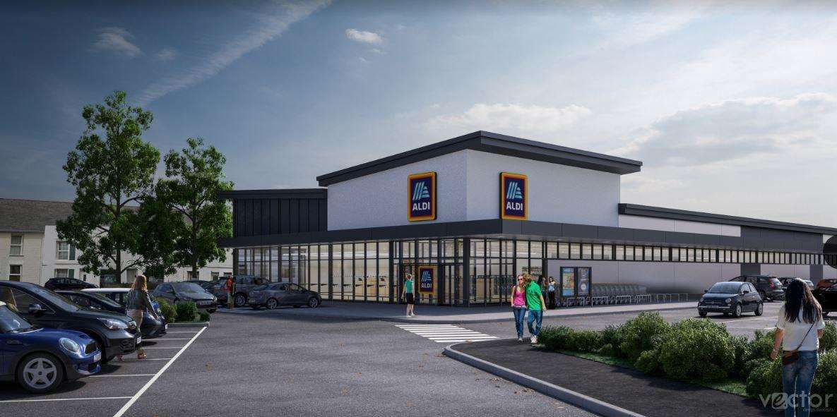 Artist impression of the proposed Aldi store in Deal (6169260)