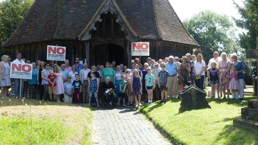A campaign is under way to stop land at High Halden church from being developed into homes (13225729)