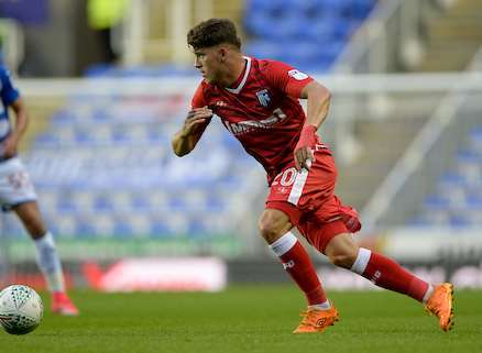 Darren Oldaker in action for Gillingham at Reading Picture: Ady Kerry