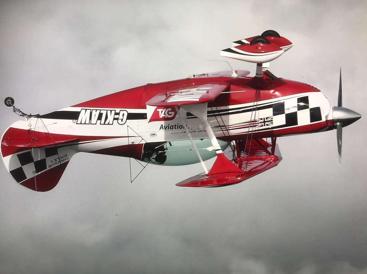 Pilot Will Hosie will attempt to cross the Channel flying upside down in this plane