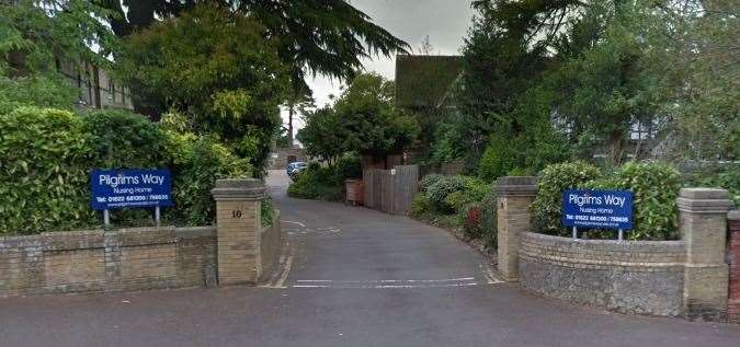 The entrance to Pilgrims Way nursing home in Bower Mount Road, Maidstone. Picture: Google street view
