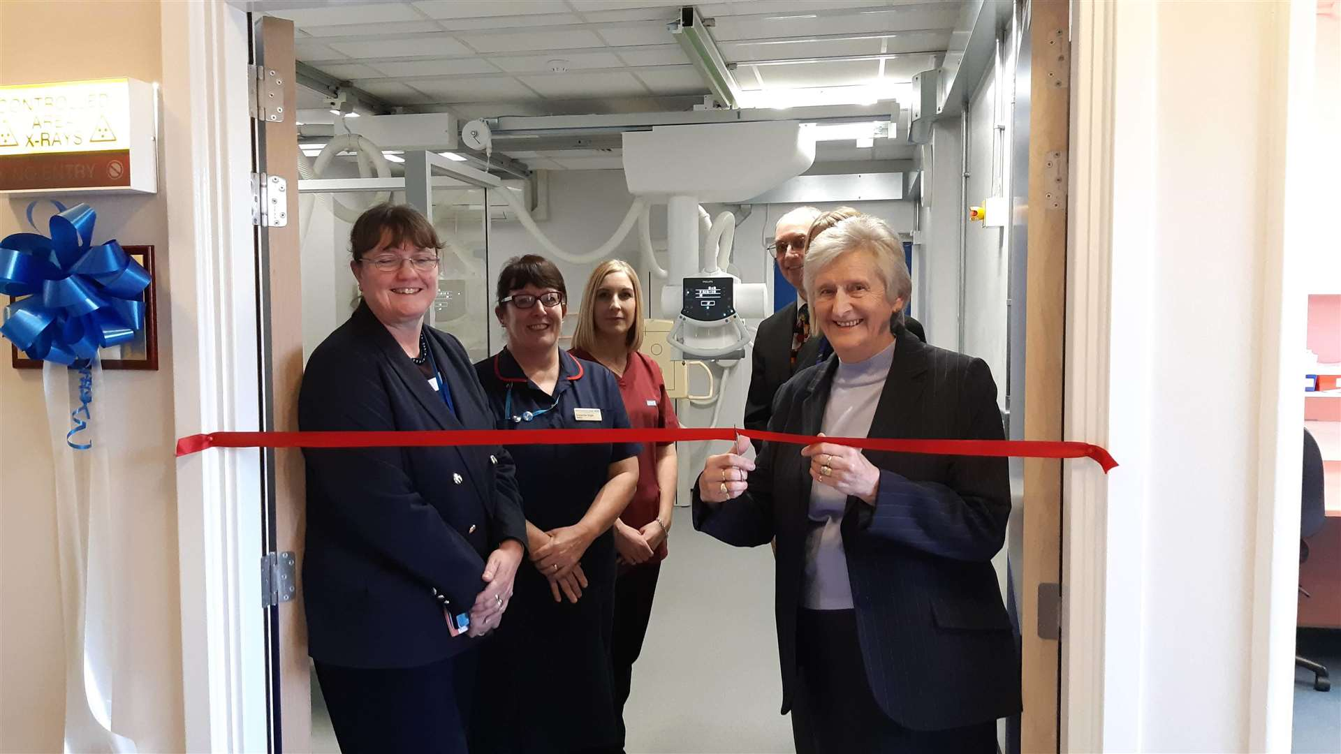 The new X-ray room was opened in memory of the late Maureen Bane (6604653)