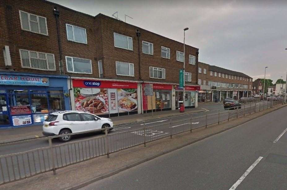 The One Stop in Watling Street, Chatham, was targeted twice by Arnold. Picture: Google (19525178)