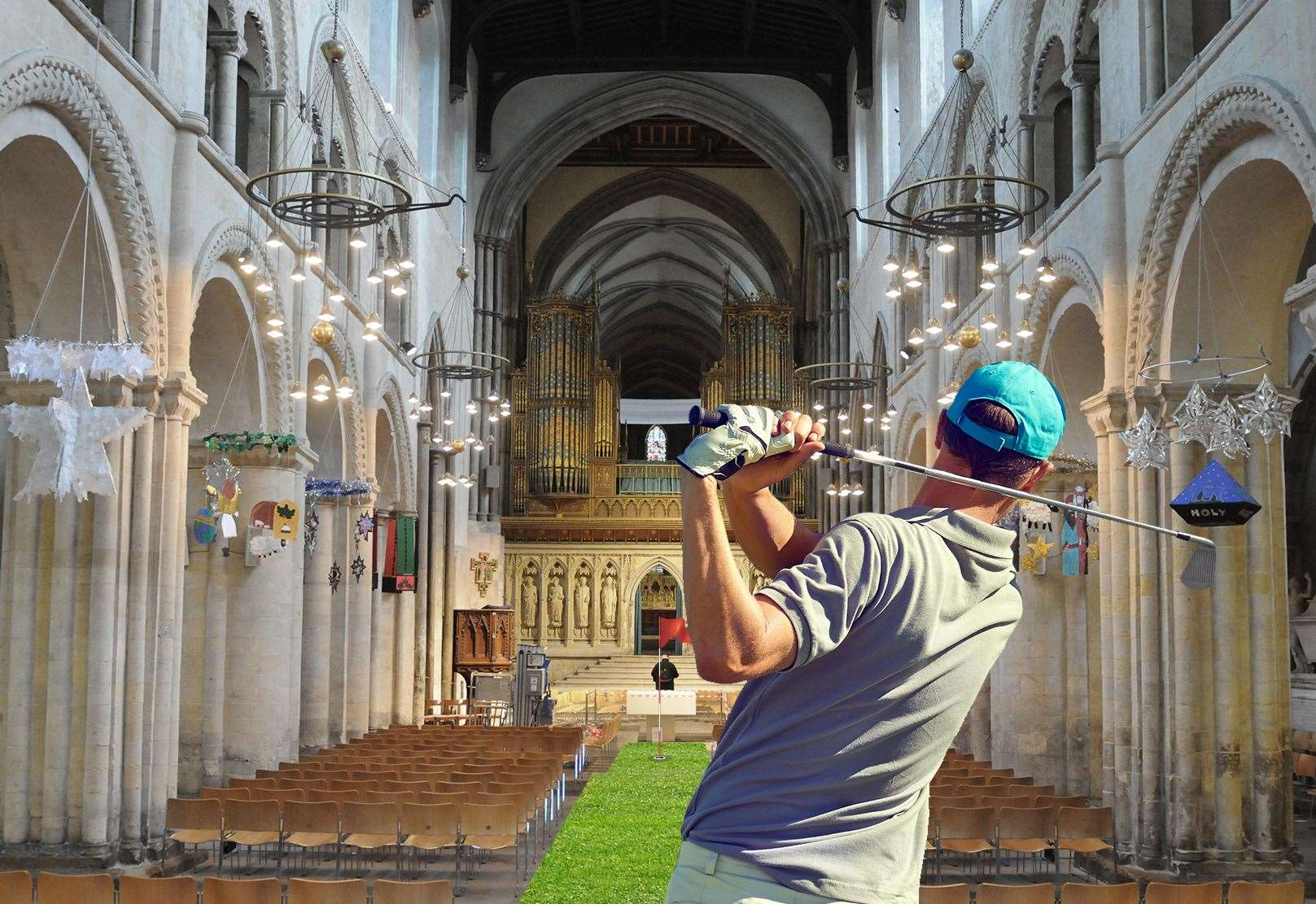 Rochester Cathedral Opens Crazy Golf Course To Draw In