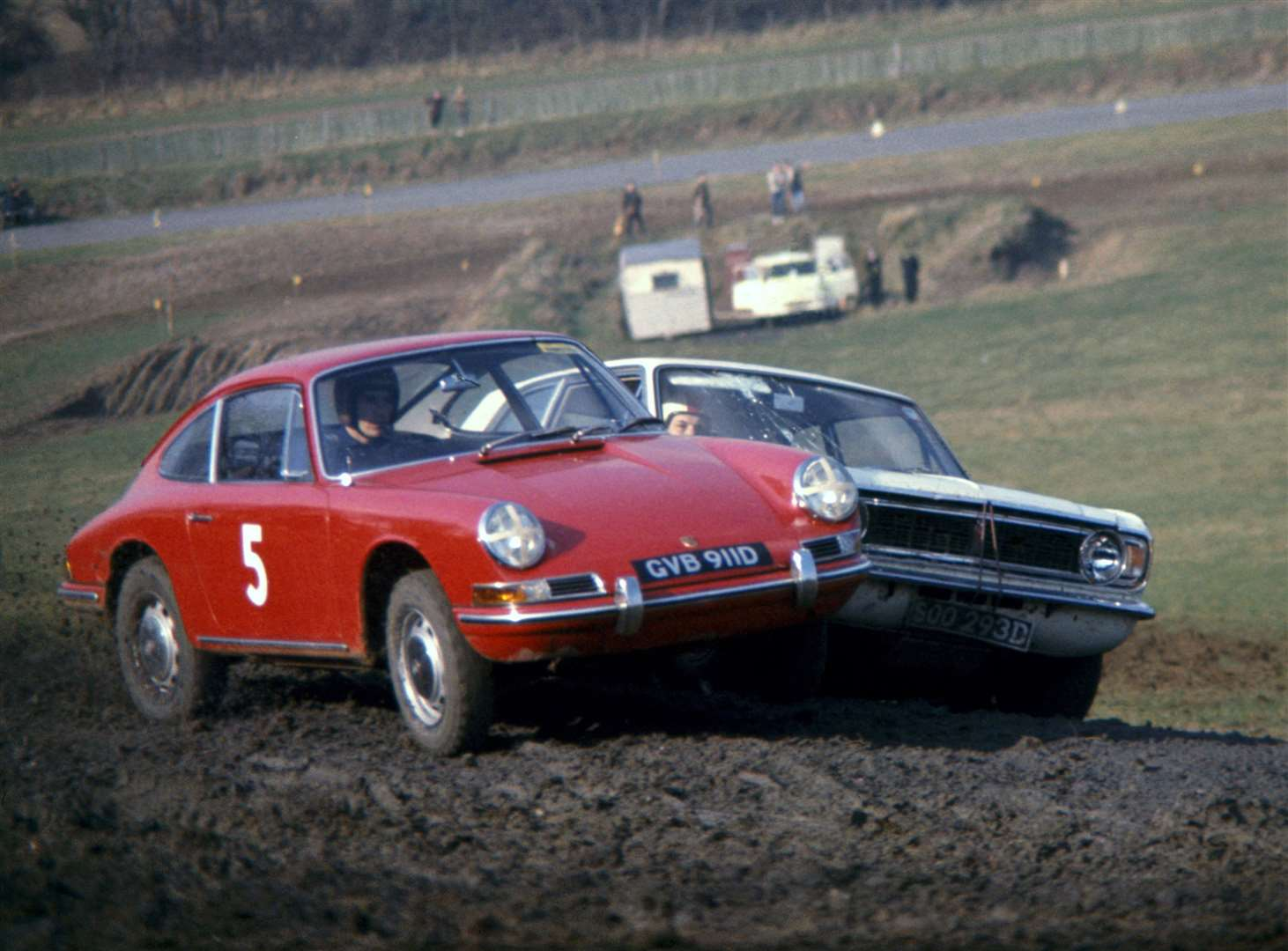 Porsche driver Vic Elford won the first-ever rallycross event at Lydden Hill in 1967. Picture: LAT