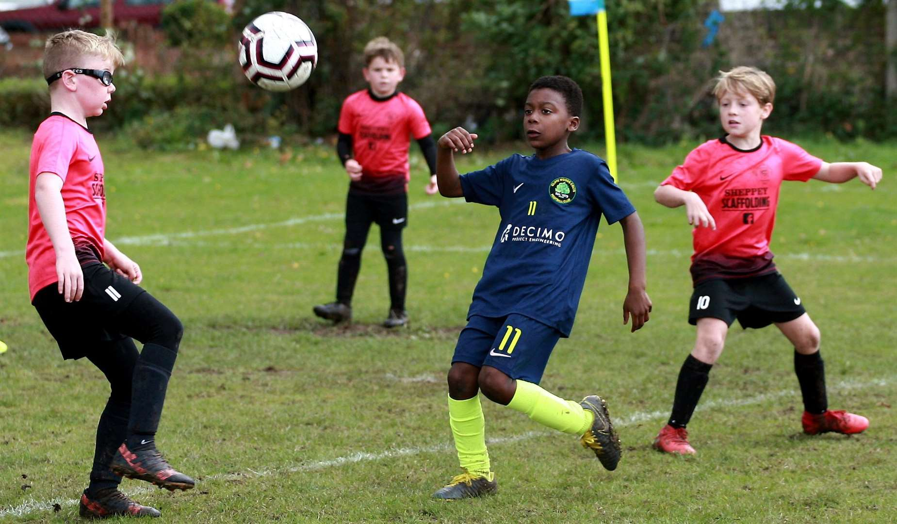 Sheerness East Youth under-9s (pink) take on Cliffe Woods Colts under-9s Picture: Phil Lee FM18684377