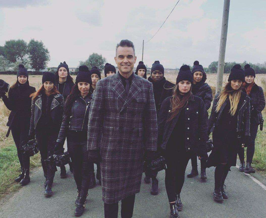 Robbie Williams filming in Leysdown