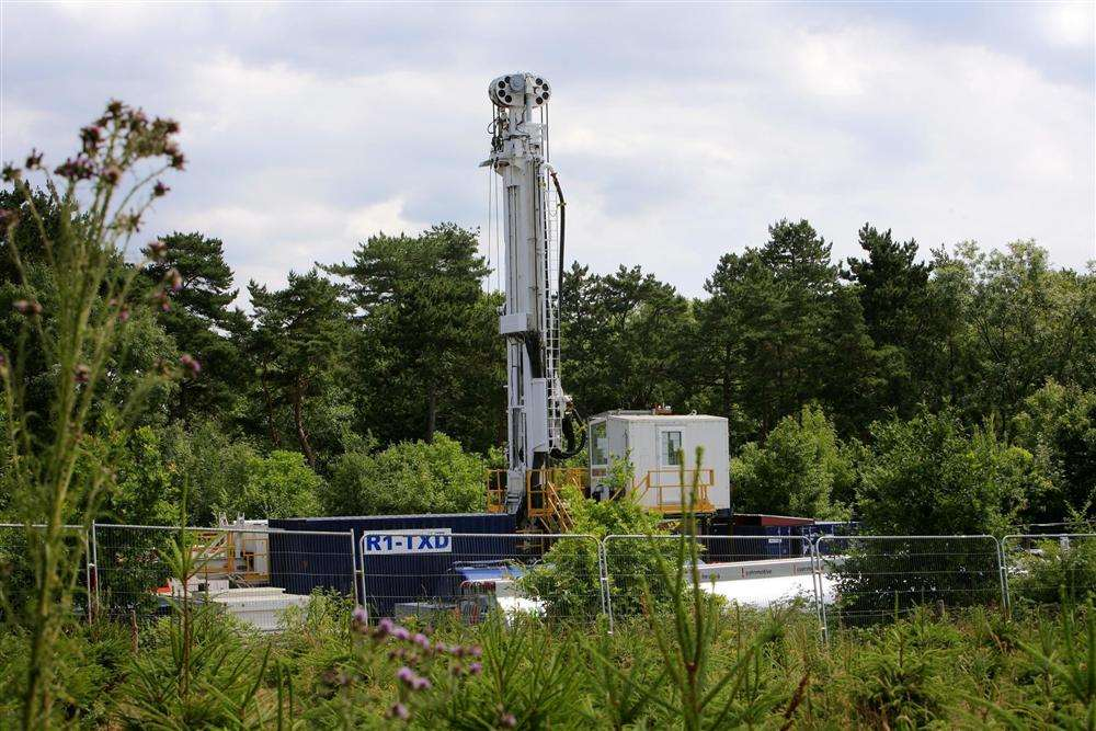 The Cuadrilla hydraulic fracking drill site in Balcombe, Sussex
