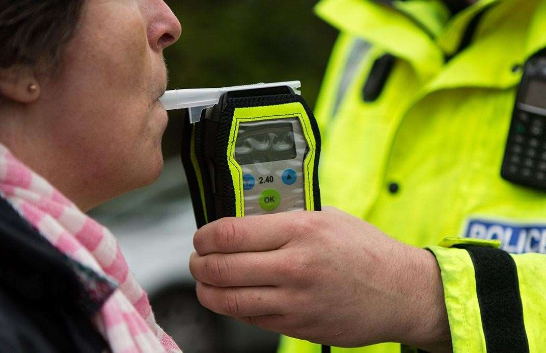 Police caught 2,312 drink drivers in Kent last year