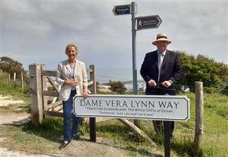 Dame Vera Lynn's name memorialised at White Cliffs