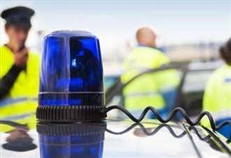 Road closed after four car crash