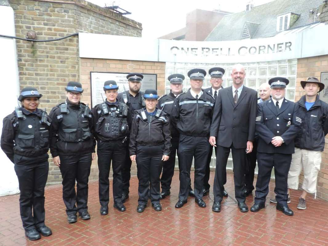 PC Colin Stroud with his colleagues