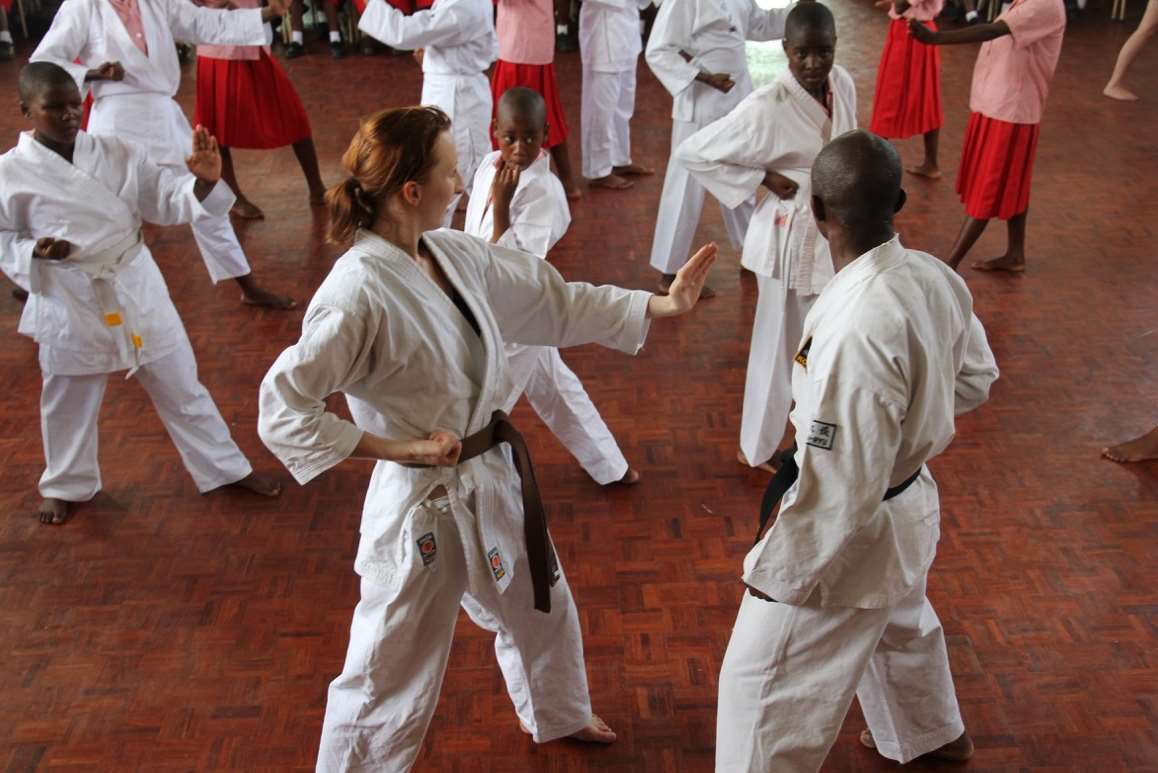 The project teaches martial arts to young people from challenging backgrounds living in third-world countries.