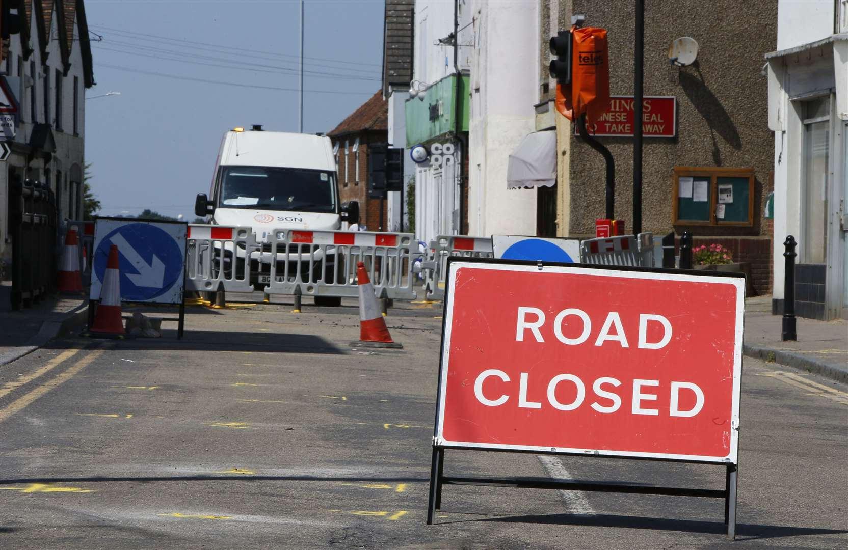 The A2 at Newington High Street was closed during emergency gas repairs in July last year