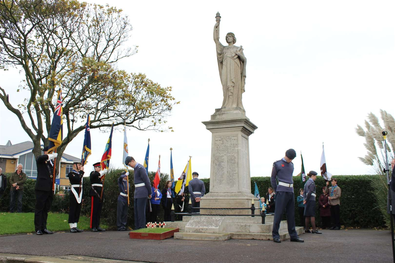 Remembrance service at the Sheerness cenotaph. File photo. (5296222)