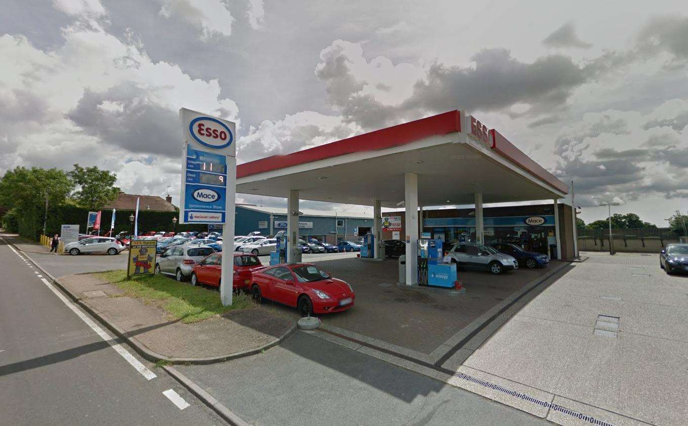 The Esso petrol station with CB Motors to the left