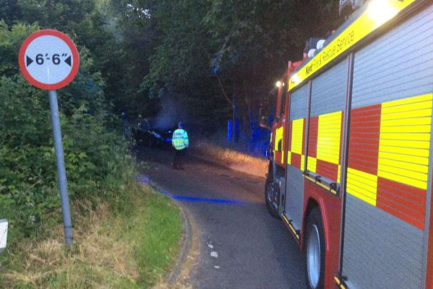 Fire crews rushed to the scene. Pic: Ashford Barbarians