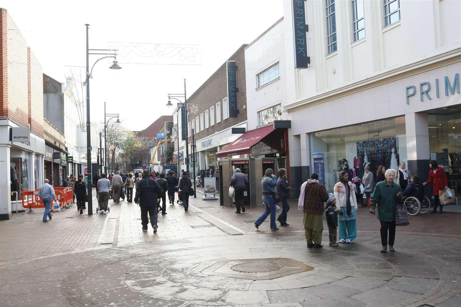 Scenes from Chatham town centre.
