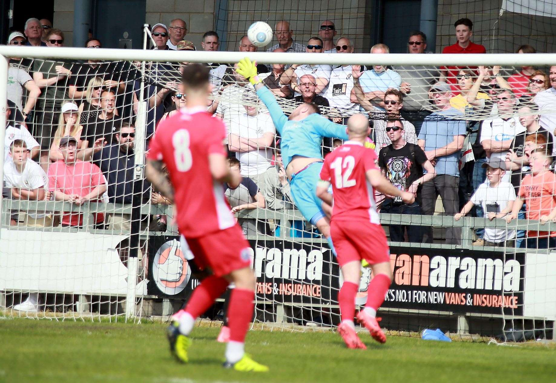 Mark Smith makes a good save playing for Billericay against Dartford Picture: Phil Lee