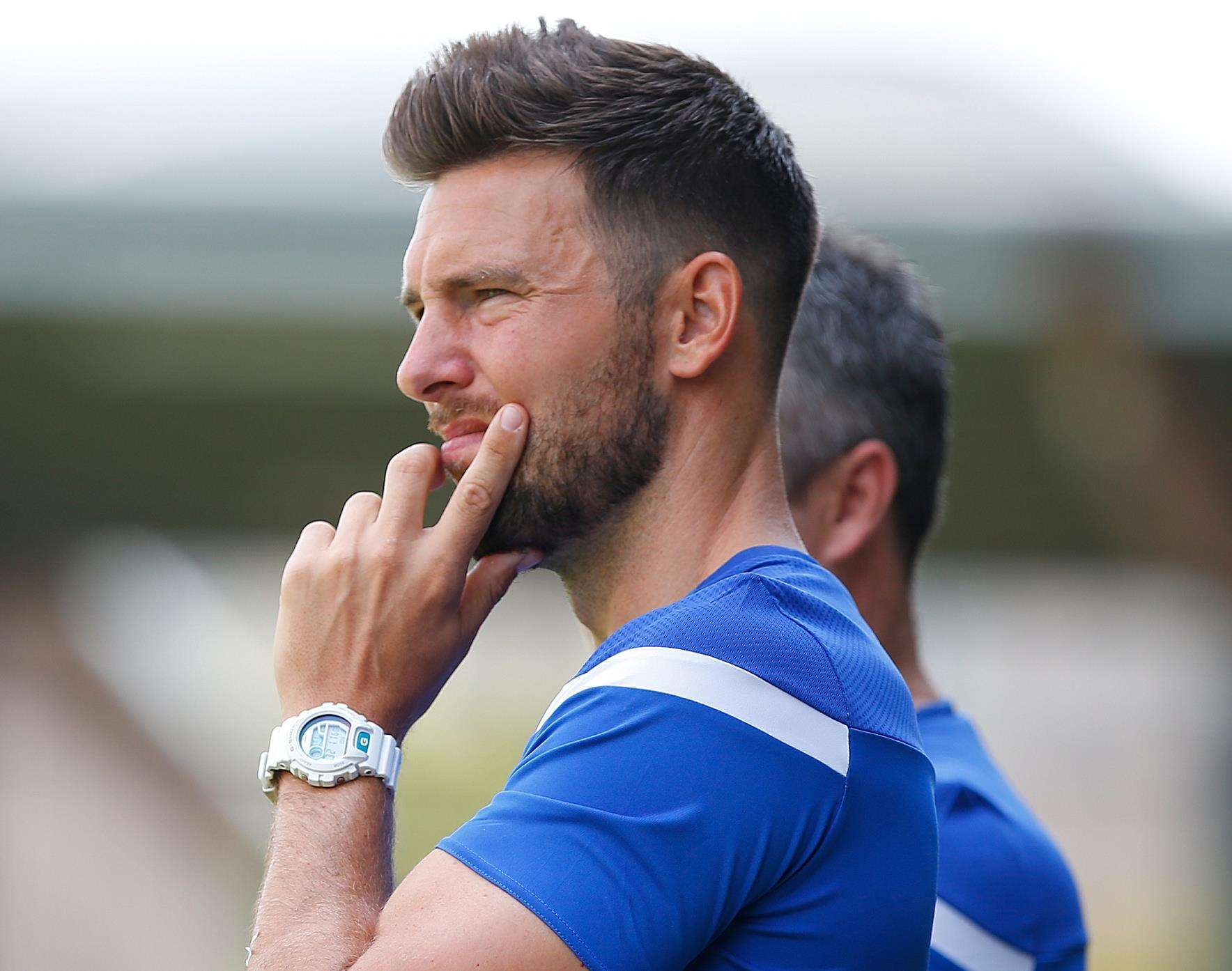 Dartford joint-boss Jamie Coyle knows all about Kudus Oyenuga having played against him last season Picture: Andy Jones