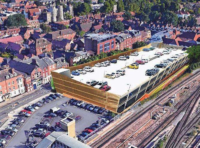 The proposed multi-storey car park in Station Road West, Canterbury