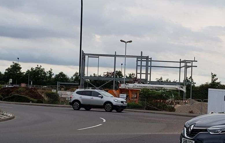 Work has began on a new KFC on Horsted Retail Park. Picture: Jim Lawrence