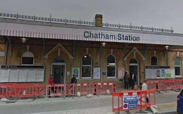 A teenager was stabbed at Chatham station