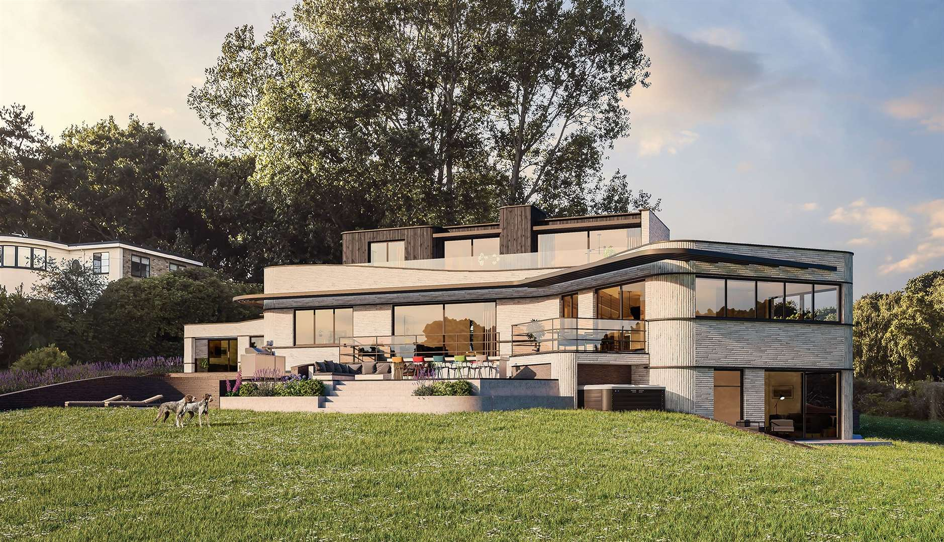 Set to replace the existing Ancona house, CGIs show what the new build will look like if approved. Picture: Hollaway