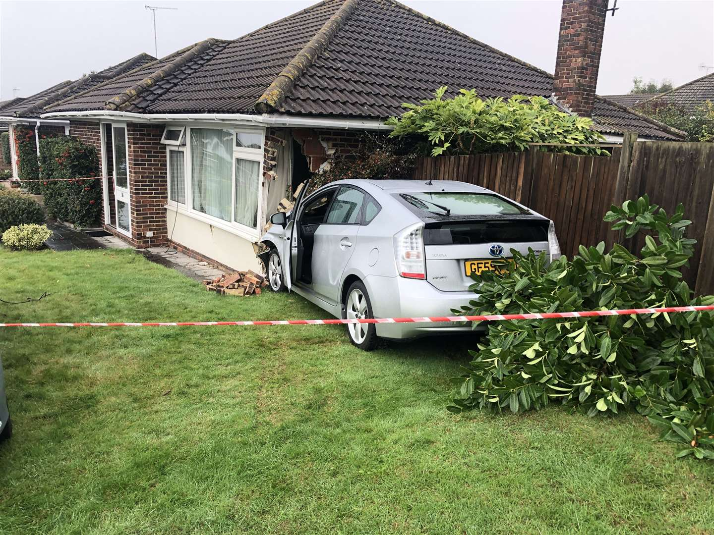 A car crashed into a bungalow in Nursery Avenue, Bearsted (19354114)