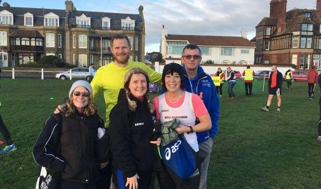 Members of Dover Road Runners at the Deal and Walmer parkrun earlier this year