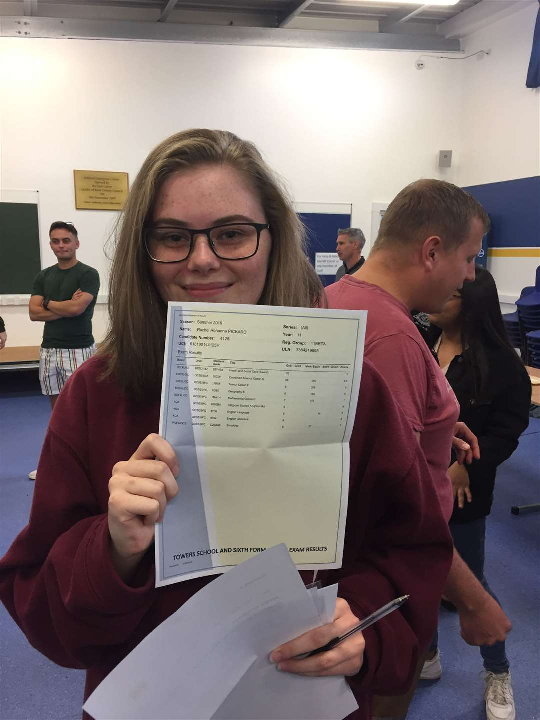 Rachel Pickard got two 8's and three 9's among her fantastic results (15606791)