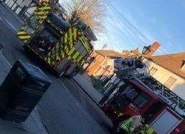 Firefighters were called to a fire at The Three Hats
