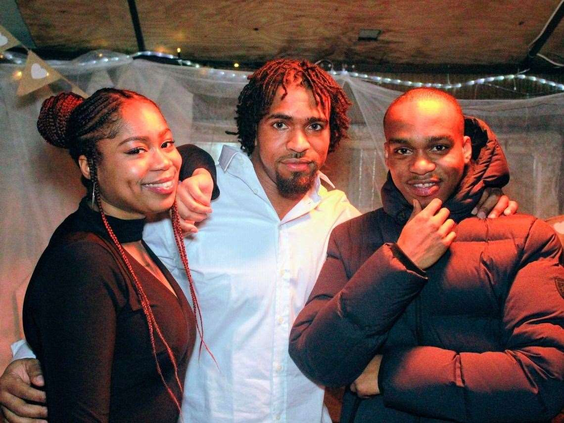 Andre Bent, right, with sister Michaela and cousin Louis