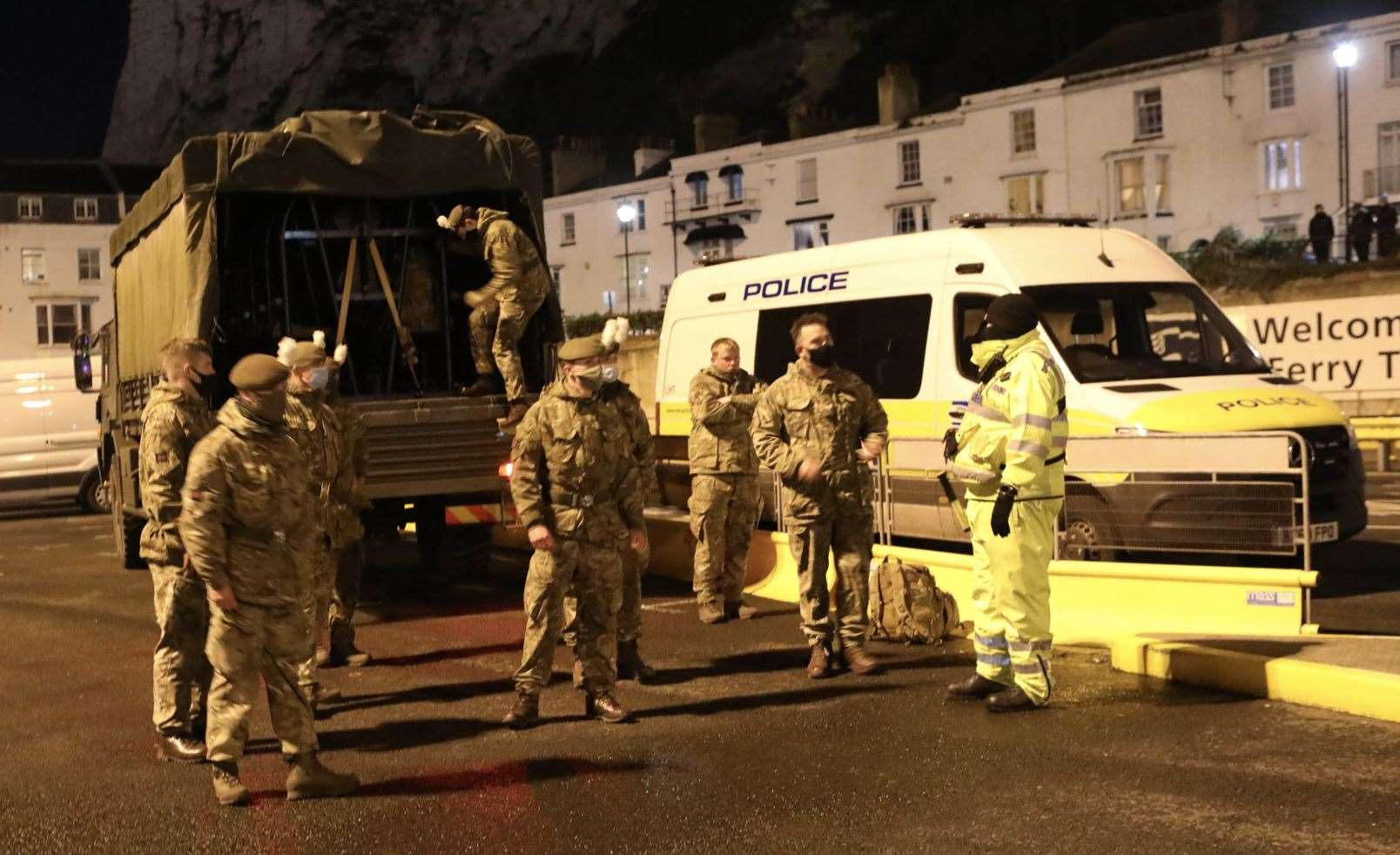 The military arrived at Port of Dover to queues of hundreds of lorries Picture: UKNIP