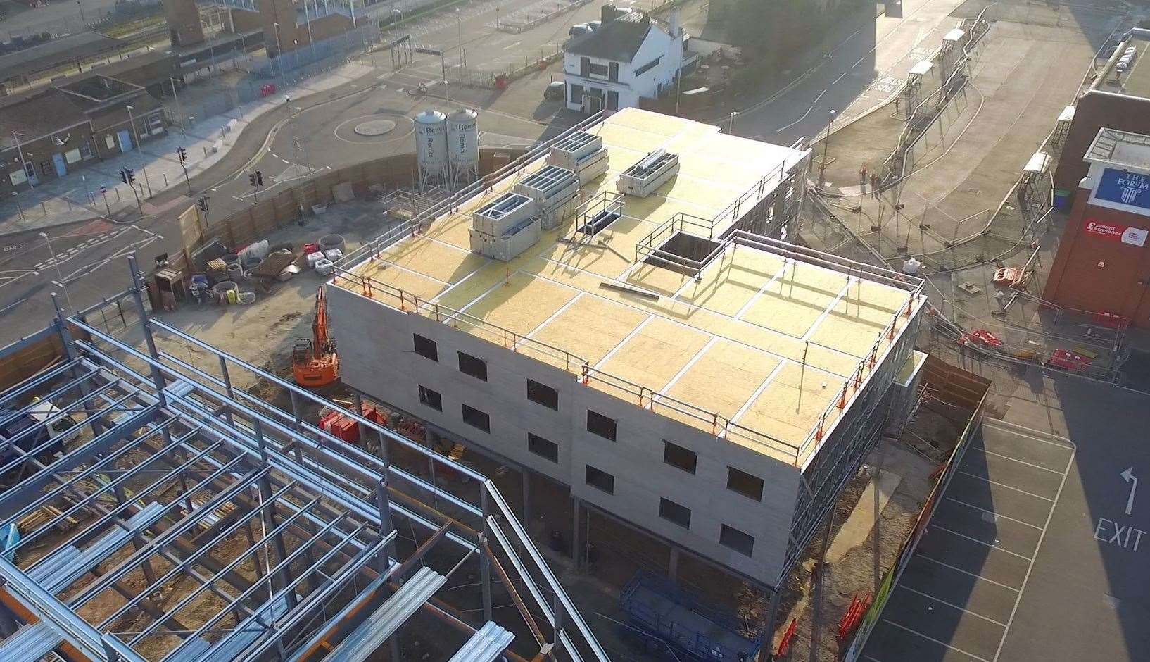 Work on the town's new Travelodge hotel is progressing. Picture: Mark Savage