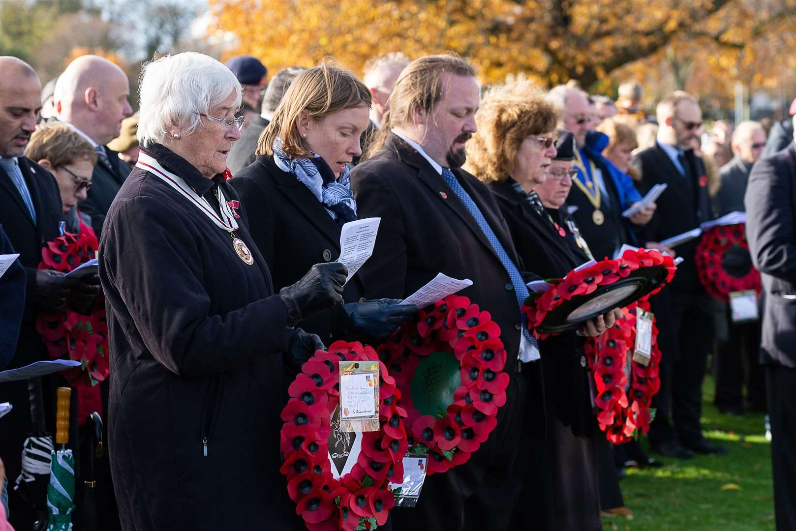 Remembrance Day service in Chatham in previous years - the commemoration event in 2020 has been cancelled