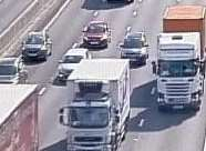 Traffic is said to have come to a standstill on part of the M25. Picture: Highways England