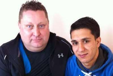 Sittingbourne student Najibullah Hashimi with foster father Steve Griffiths
