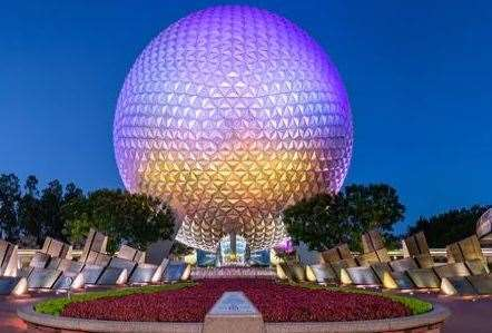 The main entrance to the Epcot theme park
