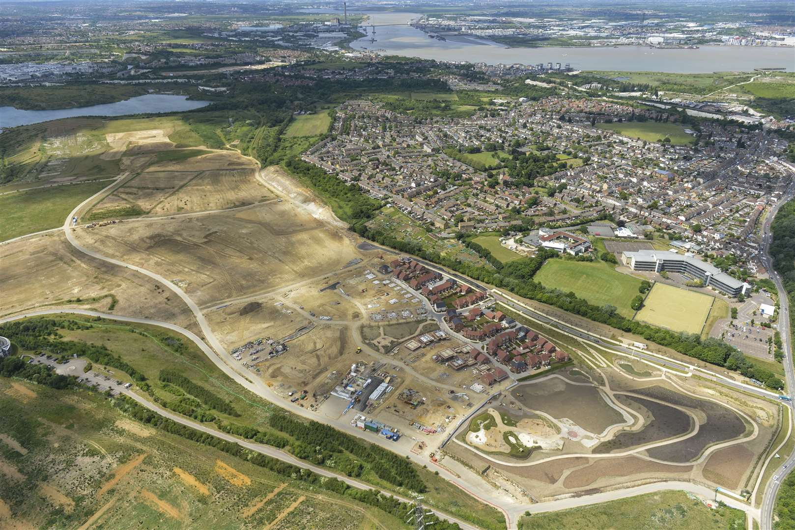 An aerial image of the Eastern Quarry at Ebbsfleet Garden City where there are plans for new homes and schools. (20298503)