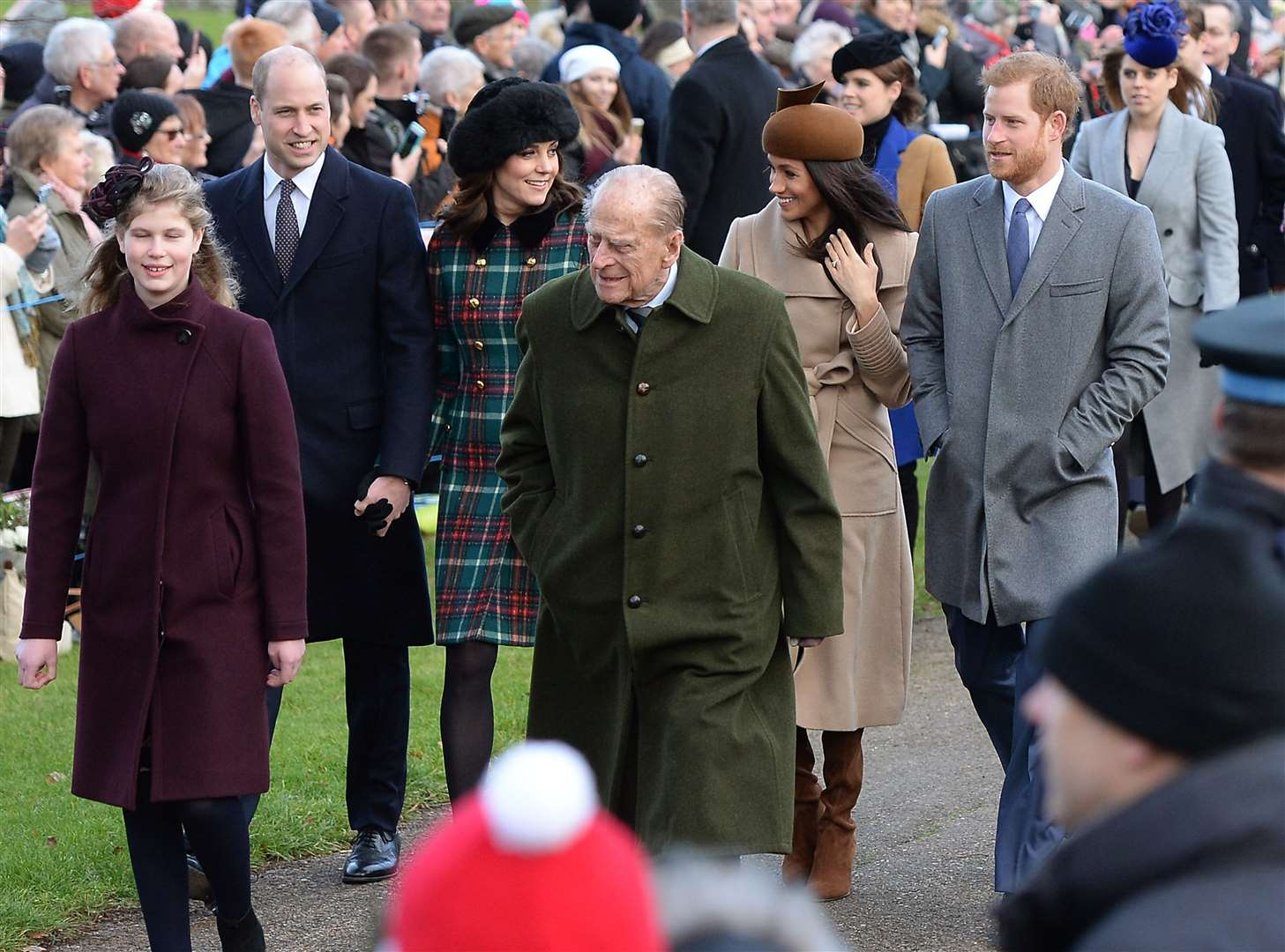 In past years the royal family have gathered at Sandringham and attended church on Christmas Day (Joe Giddens/PA)