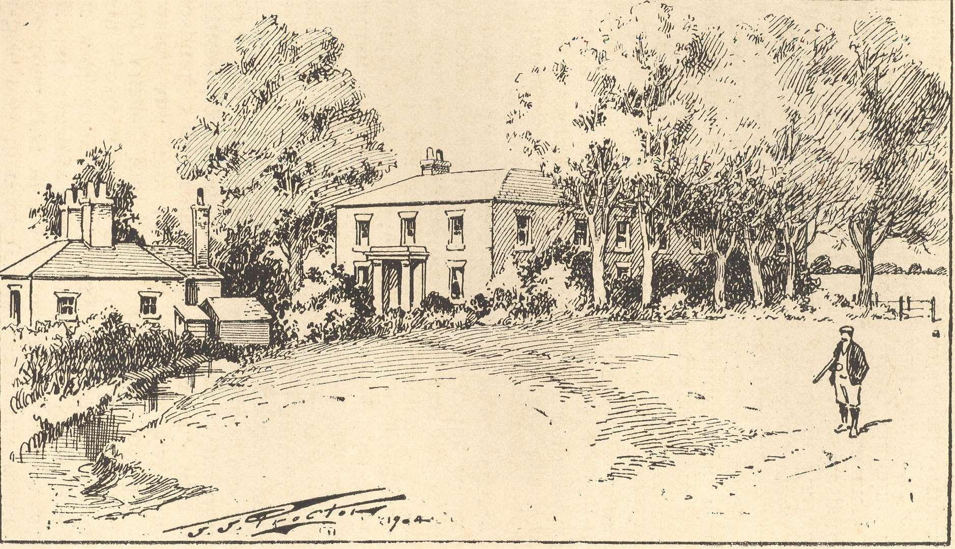 Sketch of Sheppey Court, Halfway Road, halfway.  Photo: Bel Austin